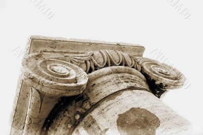 Historic Stone Ionic Capital and Column