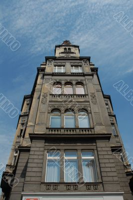 Prague thin decorative building