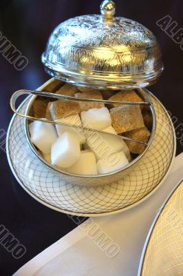 Silver sugar holder