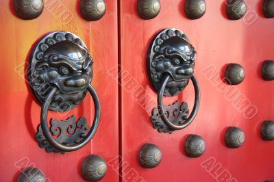 Chinese temple doorway