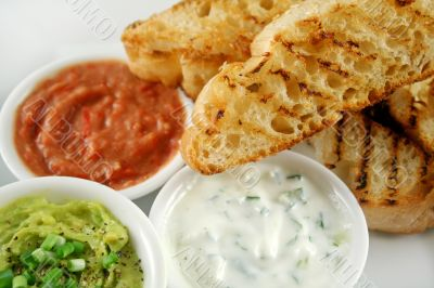 Turkish Bread And Dips 1