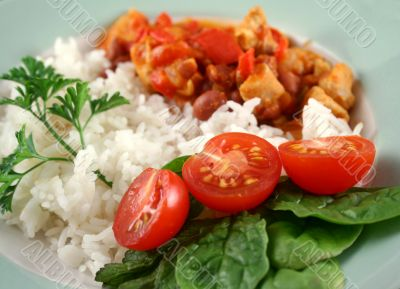 Chicken And Lentil Stew With Rice 1