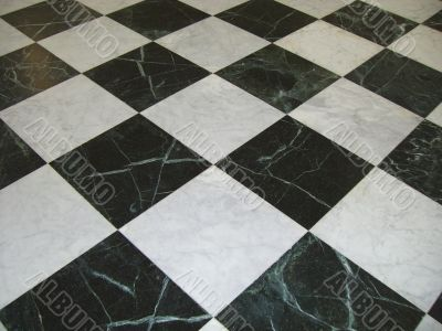 Floor with Marble Chess Table Layout