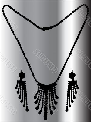 Necklace with ear-drops