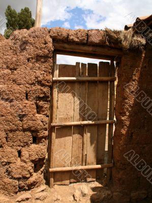 door of a farm
