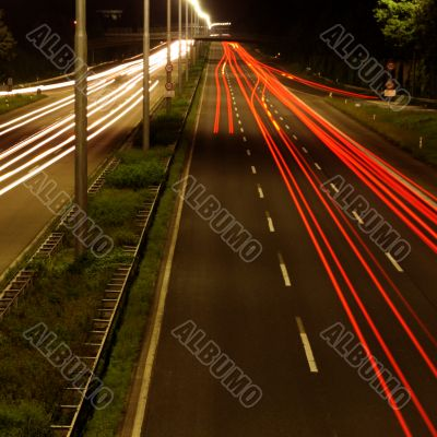 high speed car at night