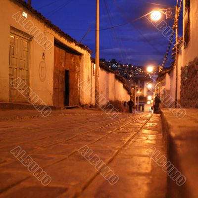 street in south america, peru, cuzco