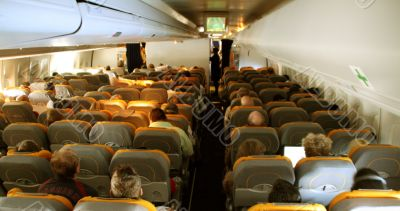 in a airplane