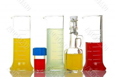 Assortment of test flasks