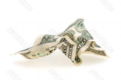 crumpled dollar