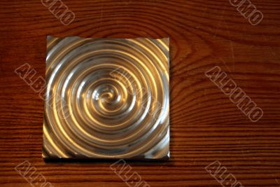 Labyrinth, aluminium circle