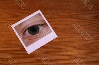 Eye Photo on Table