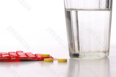 water and pills