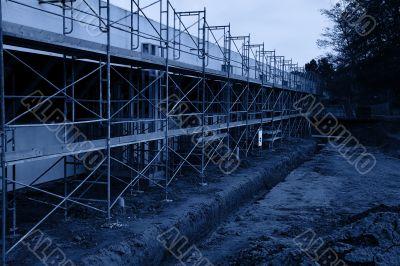 Parking lot scaffolding