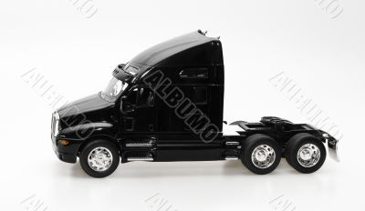 isolated black truck