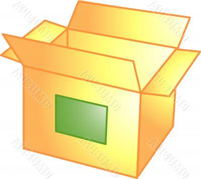 Open box icon or symbol