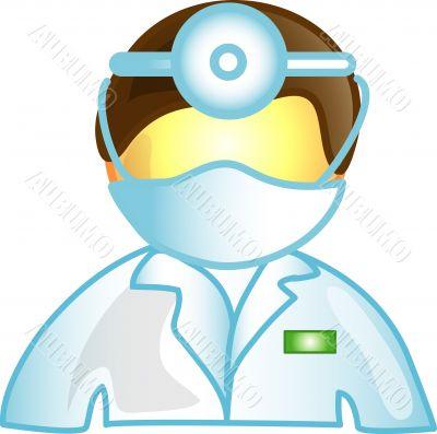 Male vet doctor icon