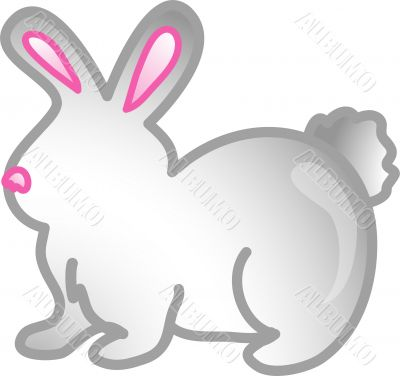 Pet rabbit icon or symbol