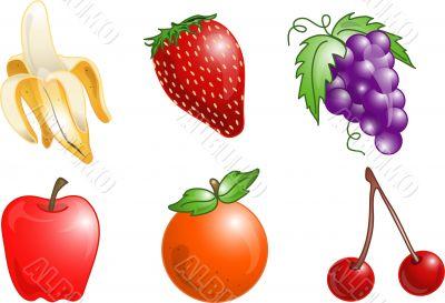 Fruit icons or symbols