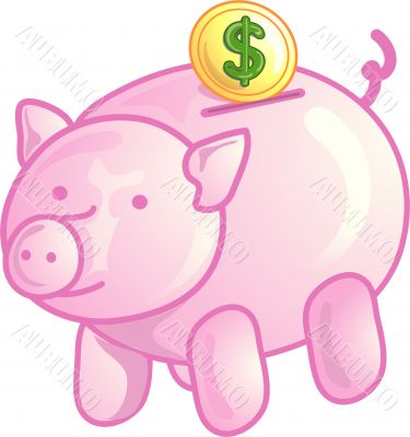 Piggy bank icon or symbol