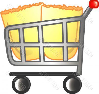 Full cart icon or symbol