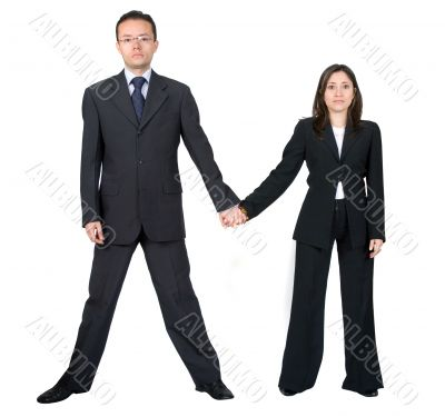business partners holding hands