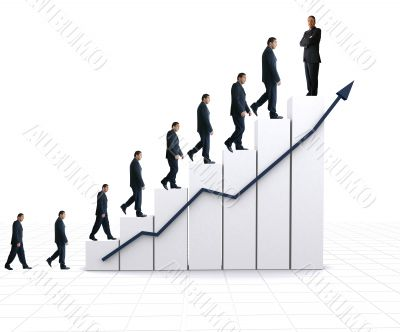 business statistics - white graph