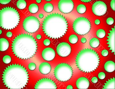 Green Stars on Red