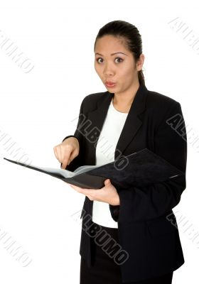 read the manual! - asian business woman