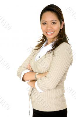 friendly asian business woman