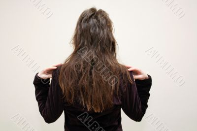 Hairstyle from behind