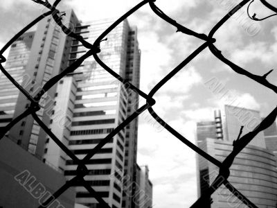 Business behind fence