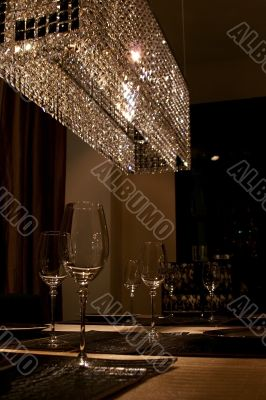 Wineglasses and light reflections