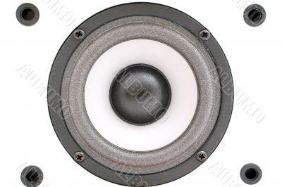 Audio acoustics. A close up. Background 2