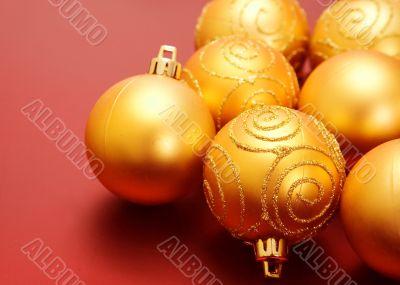 christmas golden baubles