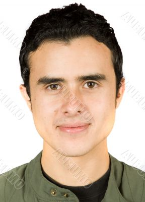 male head portrait - document style photo
