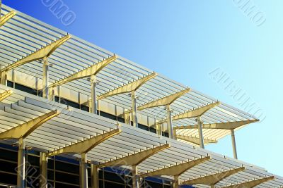 Architecture with sun blinds