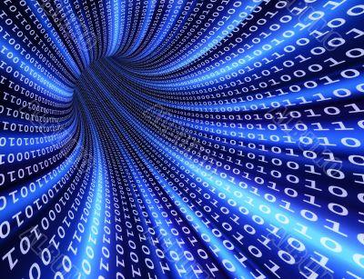 Binary futuristic tunnel