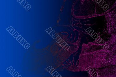 abstract background with scene of the profile