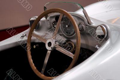Mercedes SL Oldtimer Cockpit - racing car