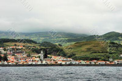 City at the coast of Azores