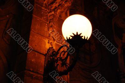 Orange Circle Lamp