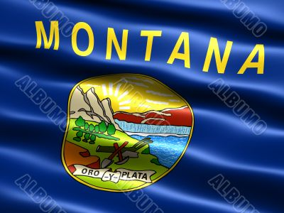 Flag of the state of Montana