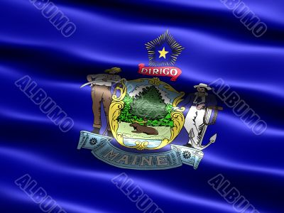 Flag of the state of Maine