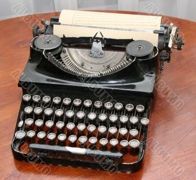 Obsolete vintage typewriter