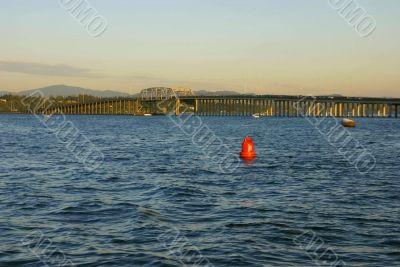 Western high rise, SR-520 floating bridge