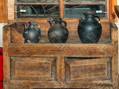 Darkened pots
