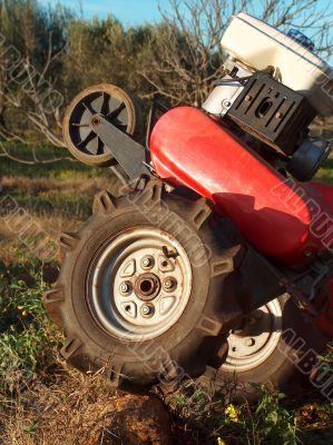Two-wheel tractor detail