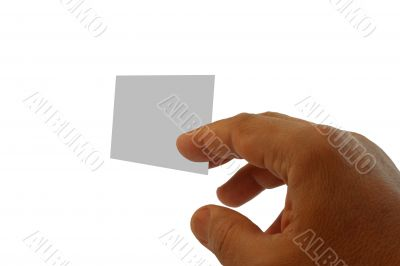 hand and visit card