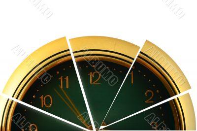 segmented clock